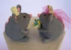 bride and groom mice