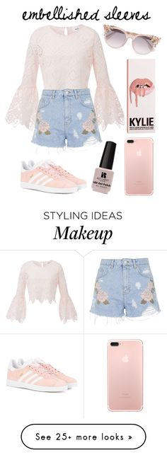 """""""Make a Statement : Embellished Sleeves : Contest Entry #1"""" by janalcala on Polyvore featuring Topshop, adidas Originals, Jimmy Choo and Victoria's Secret"""