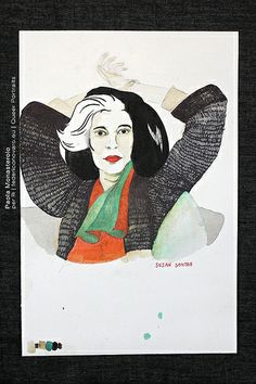 Queer Portraits, di Paola Monasterolo  13: Susan Sontag  -feat. Federico Boccaccini