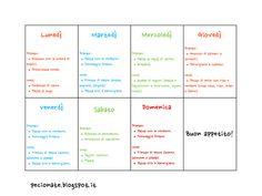 Le pecionate: Menù settimanale: come si organizza e alcuni esempi