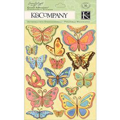 K & Company Spring Blossom Grand Adhesions, Butterflies