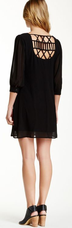 Lattice Back Shift Dress ==