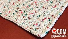 Washcloth Series: Grit Stitch Crochet Washcloth