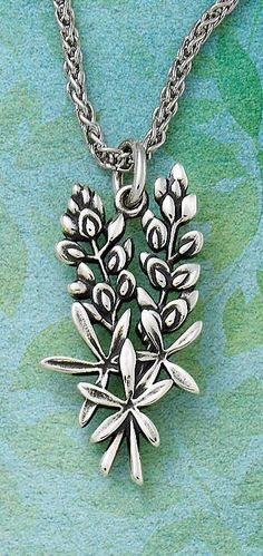 Wherever you go, keep Texas close to your heart with the Bluebonnet Pendant.  |  James Avery Jewelry
