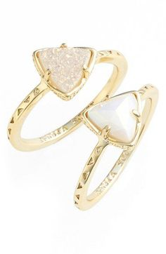 Kendra Scott 'Anna' Triangle Rings (Set of 2) available at #Nordstrom