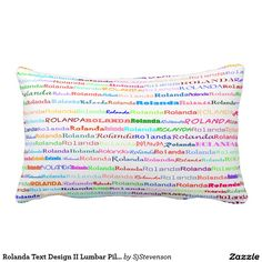 Rolanda Text Design II Lumbar Pillow