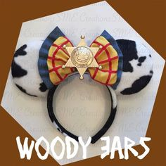 Woody Minnie Ears by yosabrinamarie on Etsy Disney Minnie Mouse Ears, Diy Disney Ears, Disney Bows, Disney Diy, Disney Crafts, Cute Disney, Disney Shirts, Disney Outfits, Toy Story