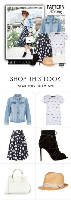 """""""Get the look: Palm Trees and Polka Dots"""" by jasminerb ❤ liked on Polyvore featuring rag & bone/JEAN, Gianvito Rossi, Victoria Beckham, rag & bone, PolkaDots, ootd, palmtrees, mixitup and gettelook"""