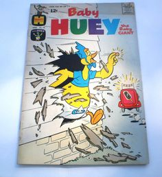 Baby Huey Comic Book 70 Harvey Comics June 1966 Caspar Ghost TV Ad Vintage Paper Ephemera Collectible 1960s Mid Century Bullwinkle