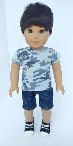 boy dolls in camo Dress Pattern Free, Quilt Pattern, Punk Outfits, Camo Outfits, Dress Up Outfits, Trendy Outfits, Fashion Outfits, Baby Dolls, Girl Dolls
