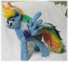 Rainbow Dash plushie no pattern