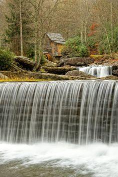 Grist Mill Babcock Park in West Virginia #WestVirginia
