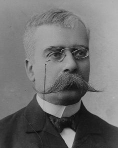Stylish Facial Hair From the Early I'm loving the curls and twist of these moustaches. Handlebar Mustache, Beard No Mustache, Mens Facial, Facial Hair, Cthulhu, Victorian Men, Today In History, Photo Black, Hair