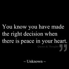 Peace in your heart...