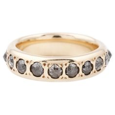 Lauren Wolf Jewelry Gray Diamond Eternity Band // ESQUELETO