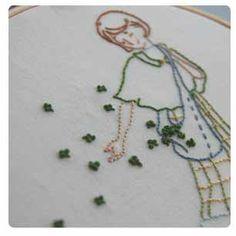 Irish embroidery pattern - free!