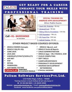 Home | Palium Skills - Professional Training Institute in Kolkata | Oracle | PMP Certification| ITIL Certification | Java J2EE | Web Designing | Android | iOS | Final Yr Projects | Big Data | Staad pro | Primavera | GD PI