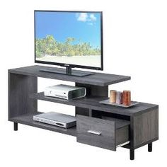 "Seal Ii 60"" TV Stand Weathered Gray - Johar"