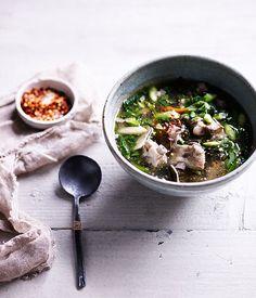 Hot and sour pork rib soup recipe | Tom saap recipe - Gourmet Traveller