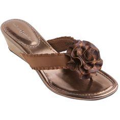 Lindsay-Phillips.com : StrapShoes : Missy Wedge Heel Bronze