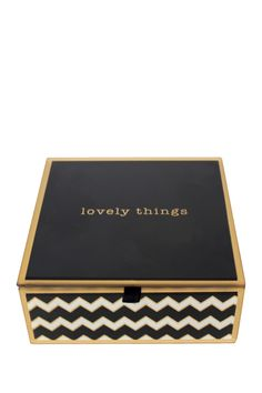 Add a lovely touch to your space and store your most precious trinkets in this fun and flirty jewelry box.  Sponsored by Nordstrom Rack.
