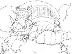 Catbus from Totoro coloring pages