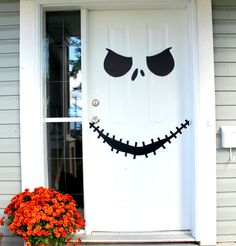 Turn your door into Jack Skellington with this printable.