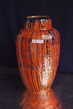 Scheurich Keramik Vase Fat Lava Rot - Kobalt - schwarz