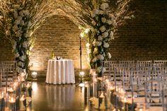 candlelight wedding ceremony chuppah jewish indoor