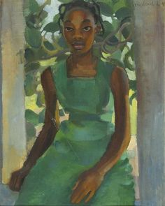 Girl in a Green Dress Menasze Seidenbeutel 1931  Brothers Menasze and Efraim Seidenbeutel were two of the most important bohemian artists of interwar Poland. They were twins biologically as well as artistically. Their older brother was their first painting teacher. In 1921 they began studying painting seriously and held their first exhibition. During the interwar years the brothers were developing their artistic talent and participated in many exhibitions both in Poland and abroad. During…