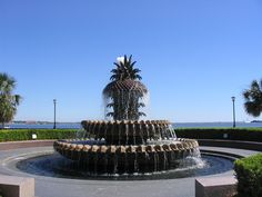 Charleston, SC - while trying to cool off almost fell in this fountain with Carla.