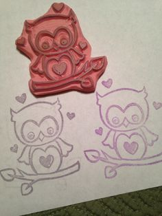 Another original design of mine. I like drawing these little cuties then making the stamps, great fun!