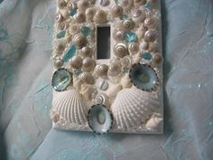 Seaglass and Seashell Light Switch Plate Cover by seasideshells