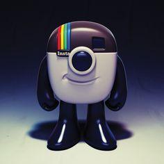 Instagram Logo Mascot Toy Design Concept by Shinbone Creative , via Behance