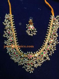 Antique Guttapusalu necklace by Konadia jewellers
