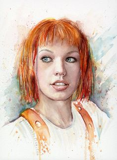 Hey, I found this really awesome Etsy listing at https://www.etsy.com/listing/198144044/leeloo-portrait-multipass-leeloo-art