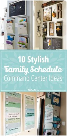 10 Stylish command center ideas to help organize your families schedule! So helpful! via @tipjunkie