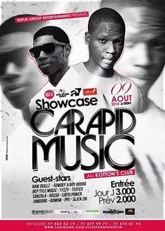 Ce Samedi à Dakar.. Retrouvez #CarapidMusic au Kotton's Club.. infos on #Wakhart l'agenda.. http://www.wakhart.com/events/carapid-music-en-concert/