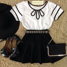 Looks para o Verão Archives - Paty ShibuyaPaty Shibuya Pretty Outfits, Cool Outfits, Summer Outfits, Casual Outfits, Girl Fashion, Fashion Looks, Womens Fashion, Mode Rock, Skirt Outfits