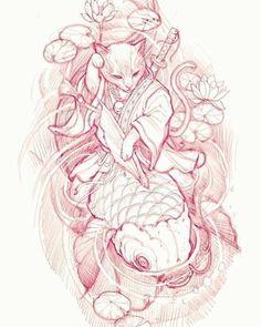 Irezumi Tattoos, Bild Tattoos, Japanese Tattoo Designs, Japanese Tattoo Art, Japanese Sleeve Tattoos, Tattoo Sketchbook, Tattoo Sketches, Tattoo Drawings, Raijin Tattoo