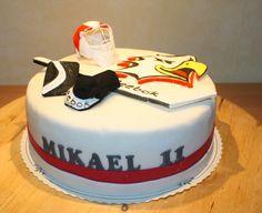 Ice hockey -cake made by Nilla's Handicraft