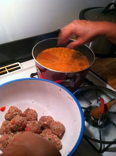 I was able to get the Handsome Mexican to cook again last night! I love when he cooks. I convinced him to make some albondigas, . Albondigas Soup Recipe Mexican, Mexican Meatball Soup, Mexican Meatballs, Mexican Food Recipes, Soup Recipes, Cooking Recipes, Latin American Food, Soup And Salad, Crockpot