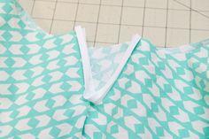 How to sew a bias bound hem and placket || Georgia Twirl Dress || Shwin&Shwin