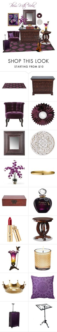 """Plum with Violin"" by janisanne ❤ liked on Polyvore featuring interior, interiors, interior design, home, home decor, interior decorating, Maitland-Smith, Howard Elliott, Nearly Natural and Christian Dior"