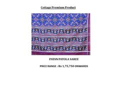 PRODUCT OF THE DAY-Cottage Premium Product- Patan Patola Saree