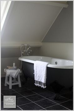 Tubs are great for slanted ceilings.