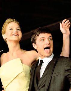 Jennifer Lawrence with Josh Hutcherson in Rome