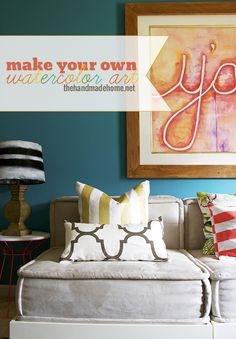 diy watercolor art - the handmade home