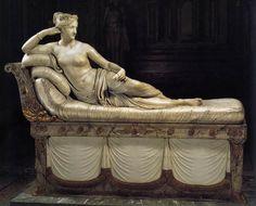 Antonio Canova, Paolina Bonaparte nelle vesti di Venere vincitrice, magnifico capolavoro che si trova alla Galleria Borghese