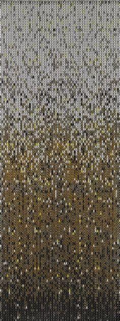 earth metal chain curtain